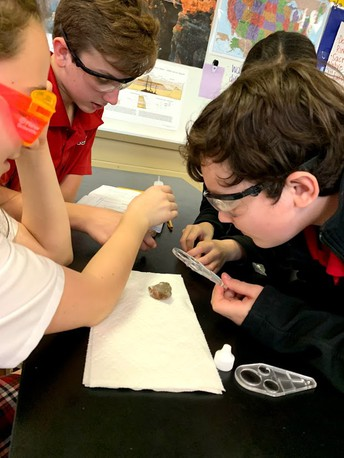 ROCK SCIENCE WITH 4TH & 7TH GRADERS