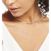 Simple Knot Collar--Silver