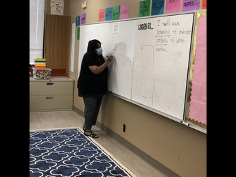 Mrs. Gamez teaching 5th grade math