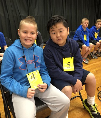 4th Grade Geo Bee Contestants