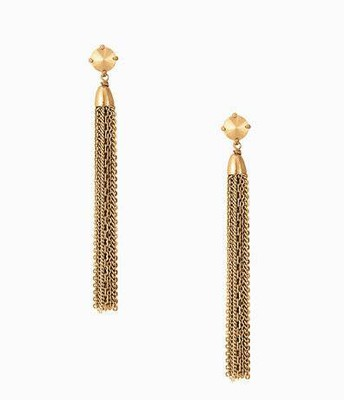 Fringe tassel earrings gold