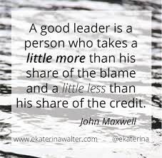 For Principals: Take the Blame and Give Away the Credit