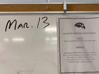 Can you believe it's been this long? A teacher at Armwood High returned to his classroom for the first time since the closure, and snapped this picture of the date on his whiteboard.