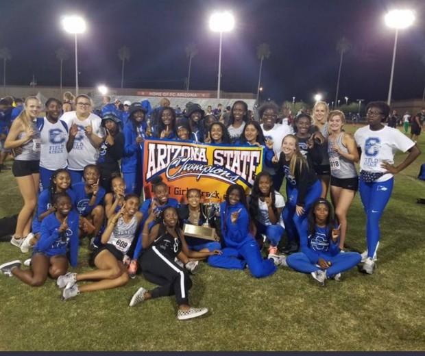 Girls Track State Champions