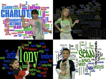WORD CLOUD SELF-PORTRAITS