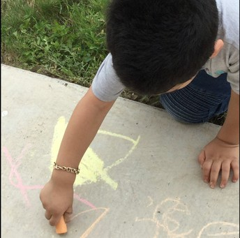 Using orange chalk