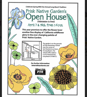 April 14th: Prisk Native Garden Open House!