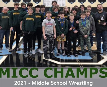 2020-21 Middle School Wrestling - MICC Champs