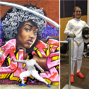 Cheltenham Fencers in Action in Community, on the Strip