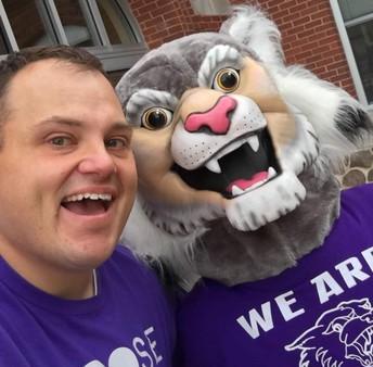 Mr. Klamm with Wesley the Wildcat