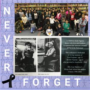 EP Students Gift Holocaust Survivor Plaque in Honor of Deceased Siblings