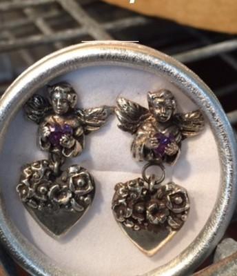 Tokens of Gilt Silver Earrings