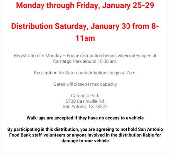 SA Food Bank Food Distribution