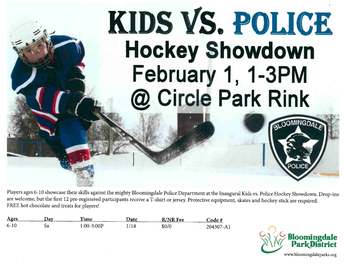 Hockey Showdown: Middle Schoolers vs Bloomingdale Police