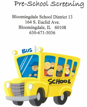 Pre-school Screening   Bloomingdale School District 13