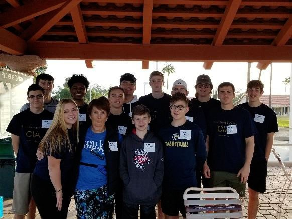 Casteel and Hamilton Students Volunteer with Sun Lakes Rotary