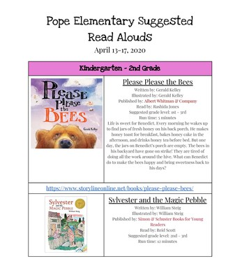 Read Alouds Pg1