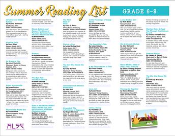 6-8 Summer Reading List