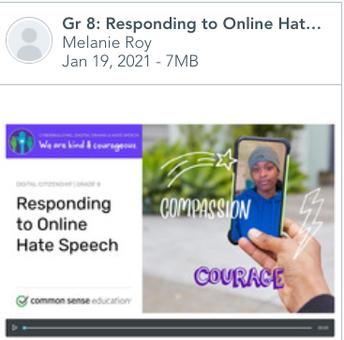 Gr 8: Responding to Online Hate Speech