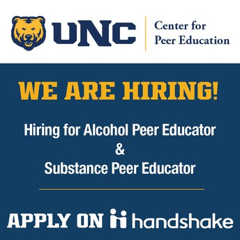 Center for Peer Education Hiring Students Now!