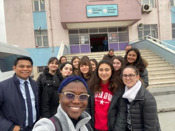 What is a community outreach project without a selfie?