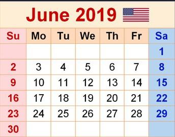June Professional Learning Calendar