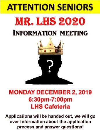 Mr. LHS Information Meeting