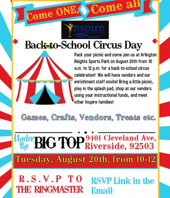 RIVERSIDE Back to School Circus Day!