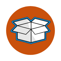 An icon that shows a box being open