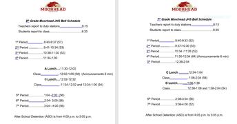 Regular Bell Schedule