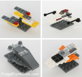 Build Your Own LEGO Mini Star Wars Ships