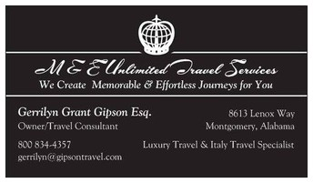 Our Travel Agency Partner:                                                M & E Unlimited Travel Services