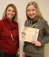 One of our 8th graders who earned the One Award