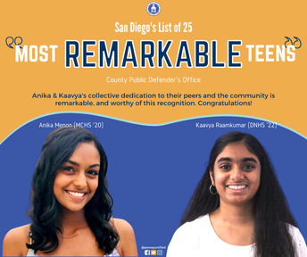 """Two PUSD Students Named County's """"Most Remarkable Teens"""""""