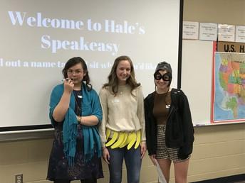 Students in AP US History host 1920's Speakeasy