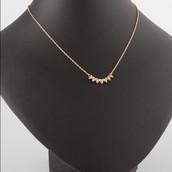 SOLD / Gold Aurora Necklace - $18