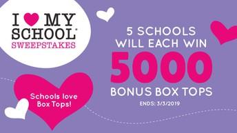 I Love My School Bonus Box Tops Sweepstakes