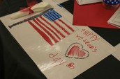 Primary Colored Placemats for our Veterans