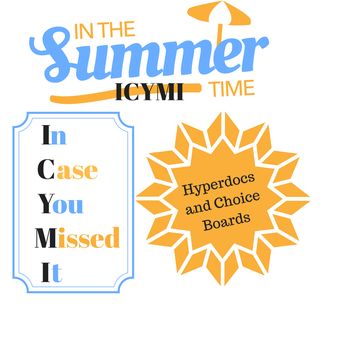 Hyperdocs and Choice Boards