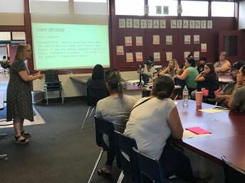 Parents In Mrs. Marinos' Tech Elective Class At Back To School Night