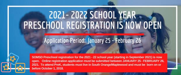 2021-22 Preschool Registration