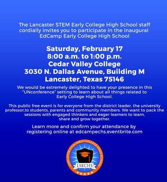 JOIN THE LSECHS TEAM FOR THIS FREE COMMUNITY EVENT ON FEBRUARY 17!