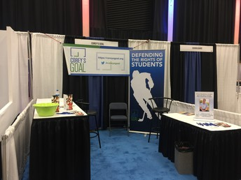 Corey's Goal Booth at the NASRO Conference