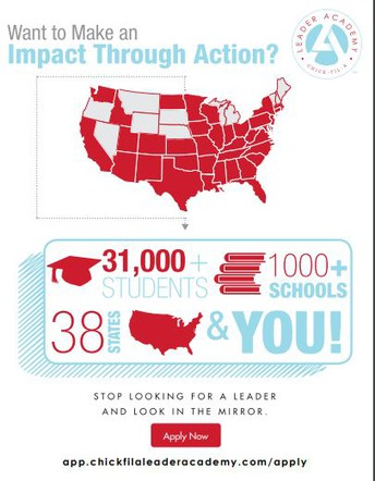 Does Your Student Want to be Apart of Making a Difference? Join Chick-Fil-A Leader Lab