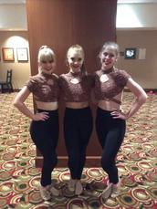 Varsity Panteras Dance Team Officers