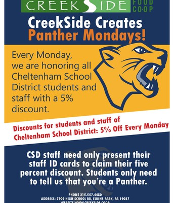 Panther Mondays at CreekSide Coop