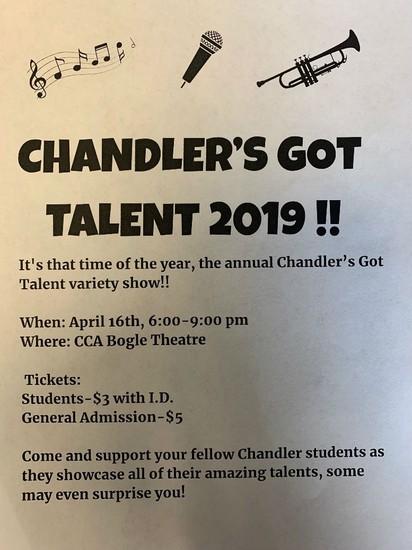 Chandler's Got Talent Flyer
