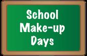 School Make-Up Days: