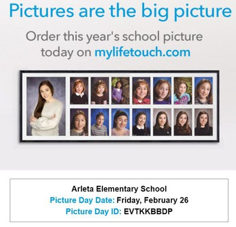 SCHOOL PICTURES ARE FEB 26