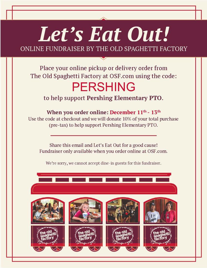 Old Spaghetti Factory PTO Fundraiser